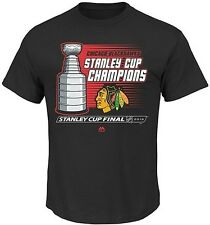 Chicago Blackhawks Majestic 2015 Stanley Cup Black Mens Shirt Big & Tall Sizes