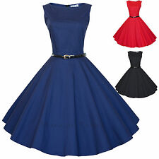 Maggie Tang 50s 60s Vintage Audrey Hepburn Rockabilly Ball Gown Swing Dress 582