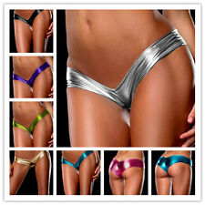 Sexy Lingerie Stretch Shiny Leather Look PU G String Panty Panties Undies Thongs