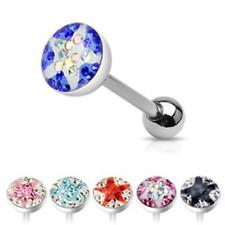 Crystal Tongue Piercing Star 6 Colors to choose NEW - PIERCINGS from ALLFORYOU