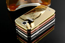 Fashion Ultra-thin Luxury Mirror Aluminum Frame Case Cover For Samsung S4 S5 S6
