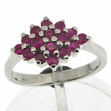 925 Silver 1.1 Ct Natural Red Ruby Ring