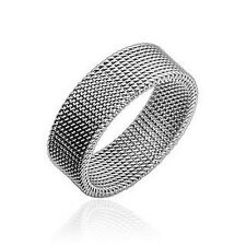 mens ladies Ring silver flexible 9 Sizes Stainless steel NEW JEWELRY