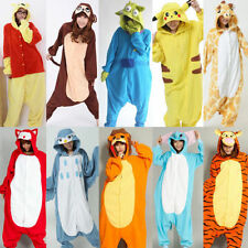 New! Unisex Adult Pajamas Kigurumi Cosplay Costume Animal Onesie Sleepwear Suit