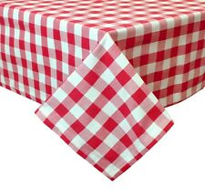 "Two Tone Gingham Plaid Holiday Cotton Festive Tablecloth, 72""x72"", 2 Colors"