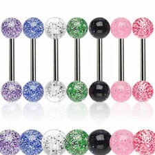 Titan Tongue Piercing Ultra UV Glitter Must Have NEW PIERCINGS from ALLFORYOU