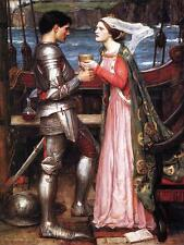 John William Waterhouse Tristram and Isolde Giclee Canvas Print