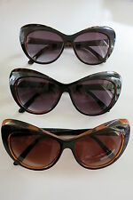 Cat Eye Sunglasses Border Tortiseshell Leopard PinUp 50s Rockabilly Big Oversize
