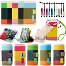New Hybrid Leather Wallet Flip Pouch Stand Case Cover Protector For iPhone 4 4S