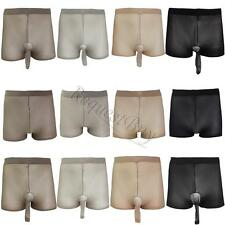 Mens Sexy Seamless Women Sheer See Through Thin Pantyhose Underwear Boxer Shorts