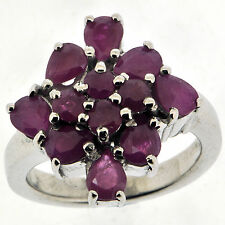.925 Sterling Silver  2.2 ct Natural Ruby Ring
