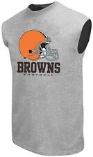 Cleveland Browns NFL Critical Victory Muscle Shirt Mens Gray Big Sizes