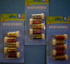 NEW 5 pk GLITTER SETS * Your Choice of Color Sets *   Glitter CRAFTER'S SQUARE
