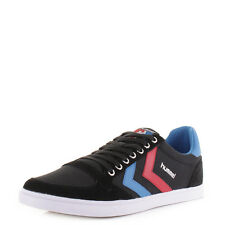 Mens Hummel Slimmer Stadil Canvas Low Black Blue Red Trainers Shoes Uk Size