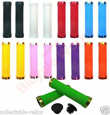 Lock On Grips BMX MTB Bike Bicycle Mountain Scooter Cycle LockOn Alloy Rings Cap