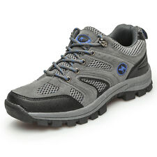 Mens Walking Hiking Trail Outdoors Ventilated Running Trainers Breathable Shoes