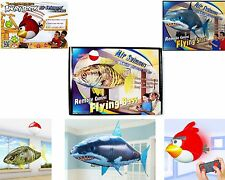 Air Swimmers Remote Control Flying Shark,Bass,Angry Bird Helium Toy For Kids RC