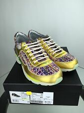 CHANEL SNEAKERS MULTICOLORED TWEED AND GOLD LEATHER SIZE 41. BRAND NEW!!!