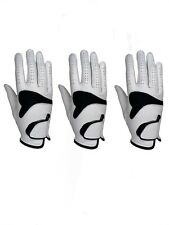 ***New***  (3) Mens All Cabretta Leather Golf Gloves (Right Hand)