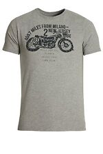 883 POLICE Coyote Graphic Print T-Shirt   Marl Grey