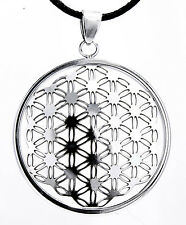 Flower of Life Pendant Stainless Steel with rope od. Chain Harmony
