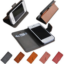New Magnetic Flip Wallet Leather Case Clip Back Cover For Apple iPhone 4S 4 5S 5