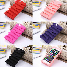 Lovely PINK Silicone Rubber Soft Back Case Cover For iPhone 6 6Plus 5 5S 6S Plus