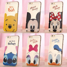Cute Cartoon Crystal Soft TPU Silicone Case Cover for iPhone 4S 5S 5C 6 6Plus 6S