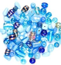 75 Grams or (30-40) Glass Mix Lamp Work Glass/Crystal Beads Jewelry Making