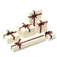 Bowknot Cardboard Gifts Box Ring Earring Necklace Bracelet Jewelry Gifts Boxes