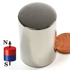 N52 CMS Magnetics® Super Strong Neodymium  Cylinder Magnets: 1x1 1/2""