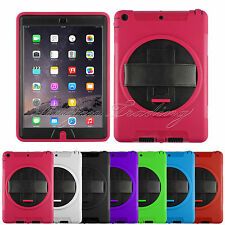 360 Rotation Kickstand Cover Full Protection Hard Case Cover for iPad Air iPad 5