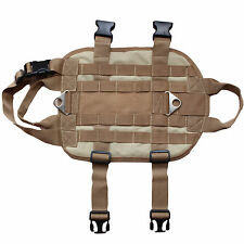 Tactical Military Army Police Molle Dog Vest Harness Velcro Patch Training Vest