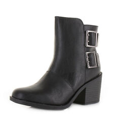 Womens Rocket Dog Dundee Sierras Black Heeled Casual Ankle Boots Size