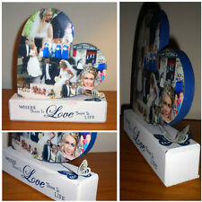 Personalised Wooden Photo Collage Wedding Heart - Upload Your Own Photos