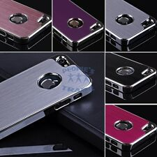 5 Colors Brushed Aluminum Chrome Back Hard Case Cover For Iphone 5