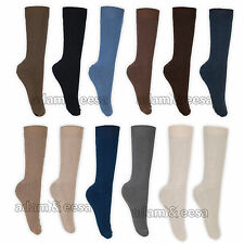 Mens  100% Cotton Socks UK Size 6-11 EU 39-45 Ribbed Grip