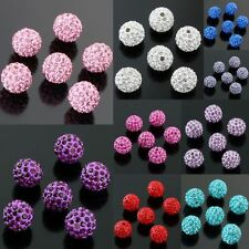 Wholesale Crystal Round Loose Spacer Beads Blue/Pink/Red/Purple/Green/Fuchsia