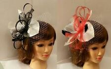 Hat Fascinator Weddings Ladies Day Race Royal Ascot  french net.Tear drop hat