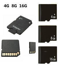 Micro SD SDHC TF Memory Card Class 6 w/ SD Adapter For Smart Phones Tablet