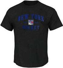 New York Rangers NHL Majestic Mens Pop Tee Shirt Black Big & Tall Sizes