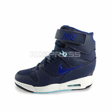 WMNS Nike Air Revolution Sky Hi [599410-403] NSW Casual Wedge Navy/Blue