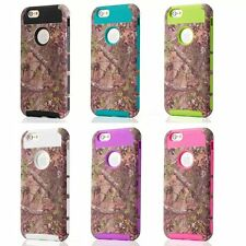 Tree Camo Mossy Hybrid shockproof hard Phone Case For Apple iphone 6 6S Plus