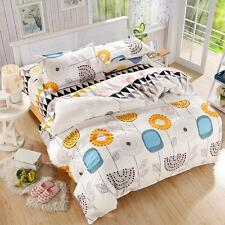 Flower Young Single Double Queen King Size Bed Set Pillowcases Quilt Duvet Cover