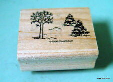 STAMPIN UP  Winter Trees Snow Rubber Stamp 1996 Unused