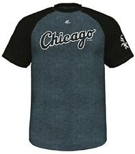 Chicago White Sox Majestic Cooperstown Retro Raglan Mens Shirt Big & Tall Sizes