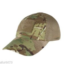 CONDOR TACTICAL MESH ADJUSTABLE BASEBALL CAP, TEAM CAP, LOW VIS, VELCRO® PANEL