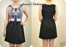 DOROTHY PERKINS NEW BLACK ZEBRA PRINT SKATER DRESS NINETEEN DESIGNER