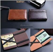 Chic Leather Magic Money Clip Slim Men Wallet ID Credit Card Holder Case Classic