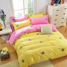 Smile Yellow Single Double Queen King Size Bed Set Pillowcase Quilt Duvet Cover